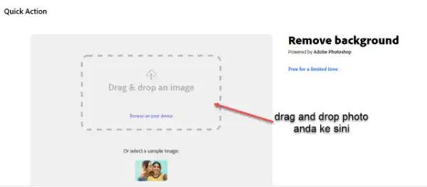 memilih gambar untuk transparent backgroud