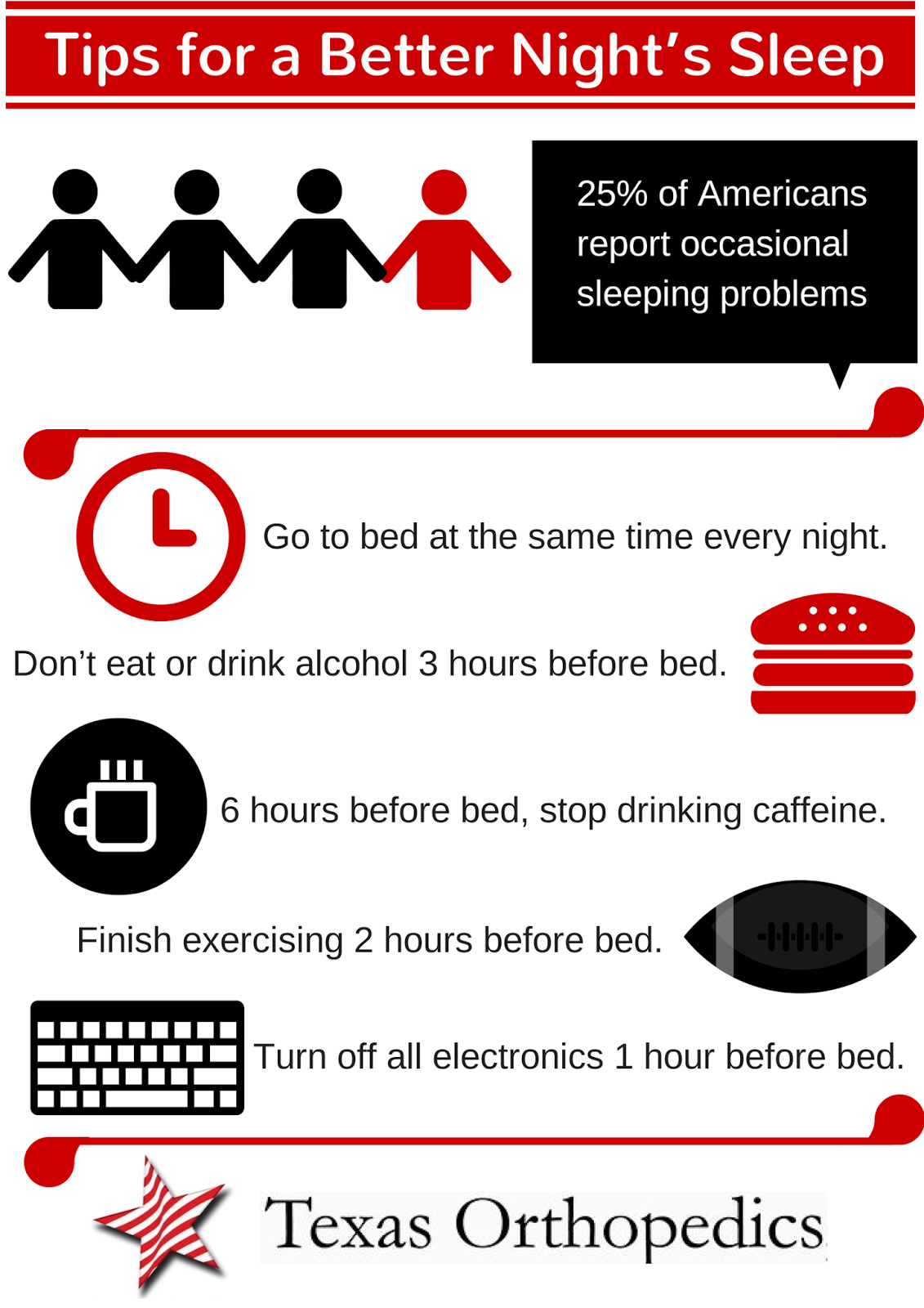 6 Tips For Getting A Better Night S Sleep Infographic