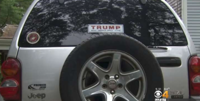Woman accused of hitting car in Hyannis after confrontation over Trump bumper sticker