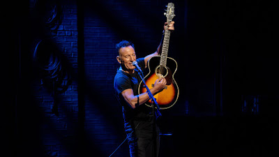 Bruce Springsteen on stage at the Kerr Theatre in New York City