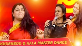 Kushboo Stunning Dance on Stage with Kala Master | Don't Miss it