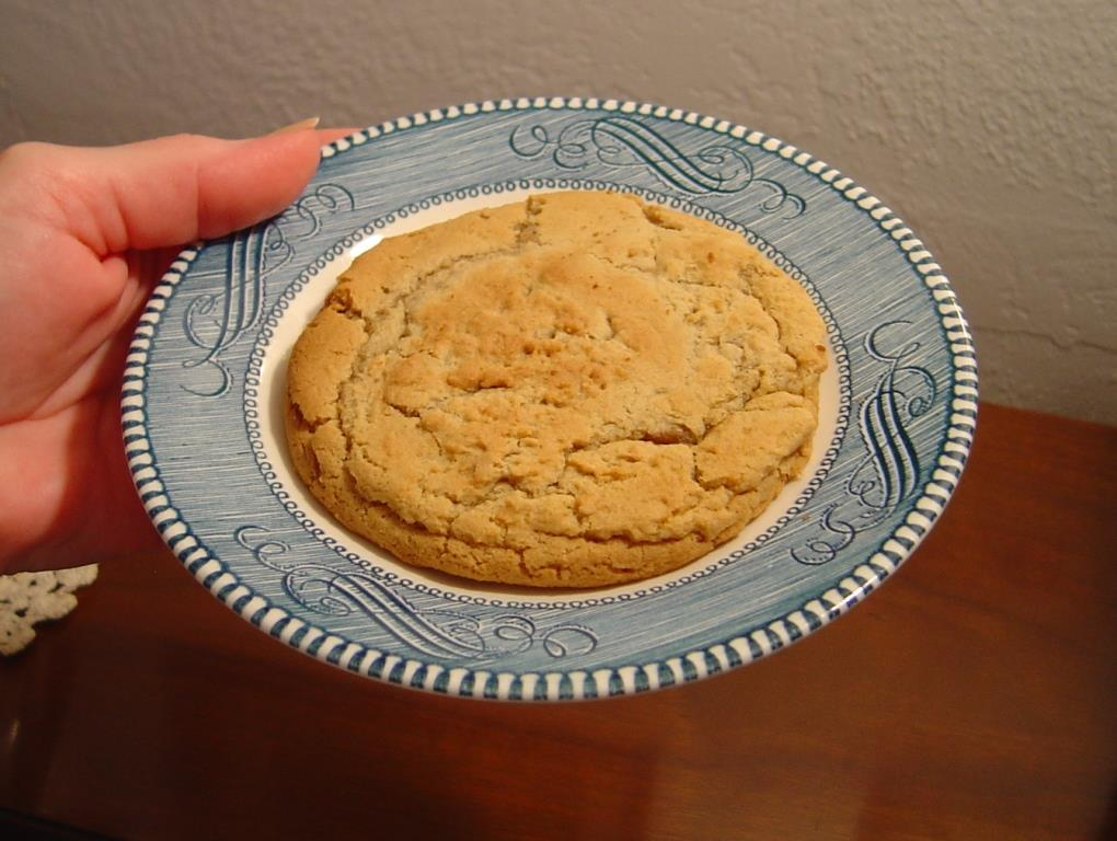 One Whole Gooey-Centered Peanut Butter Whopper cookie