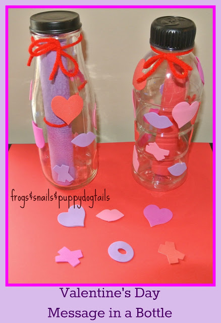 message in a bottle valentines for kids