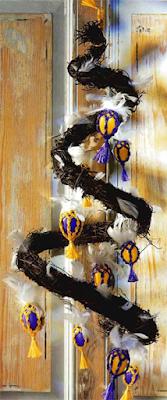Плетеное пасхальное украшение из яиц