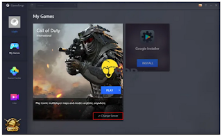 Cara Ganti Mengubah Server Call of Duty Mobile di Gameloop