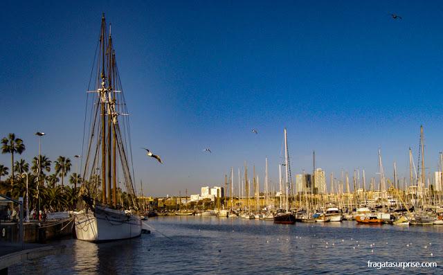 Escuna Santa Eulália, do Museu Marítimo de Barcelona, atracada em Port Vell