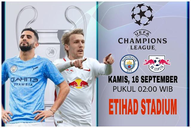 Prediksi Liga Champions Manchester City vs RB Leipzig