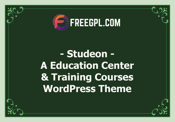Studeon | An Education Center & Training Courses WordPress Theme Nulled Download Free
