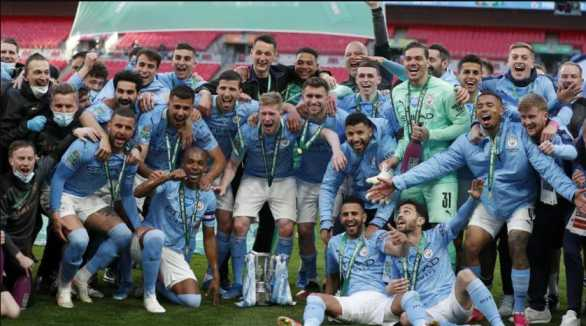 Man City beats Tottenham 1-0 to win the fourth consecutive League Cup