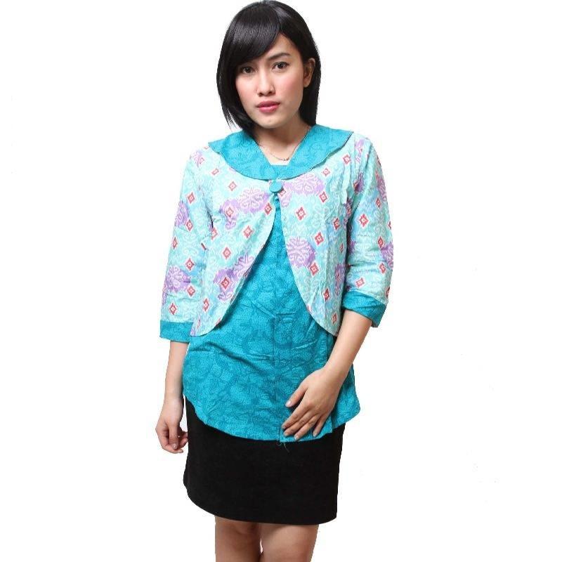 Gambar Baju Batik Kerja Kombinasi Polos: 25 Model Baju Batik Kantor Terbaru Bulan Ini