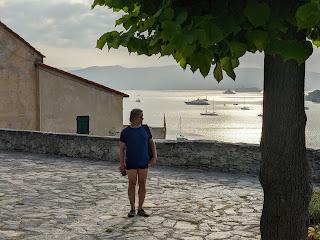 View from Church of San Lorenzo (Porto Venere) toward Gulf of Spezia