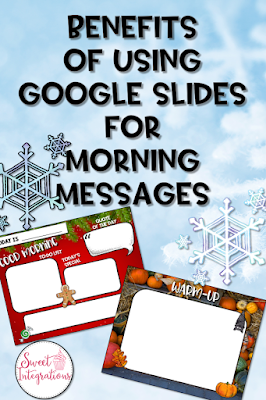 In this blog post, upper elementary and middle school teachers learn about the benefits of us using Google Slides templates for morning messages. Teachers can learn how to create their own templates and receive FREE templates to use in their classroom.