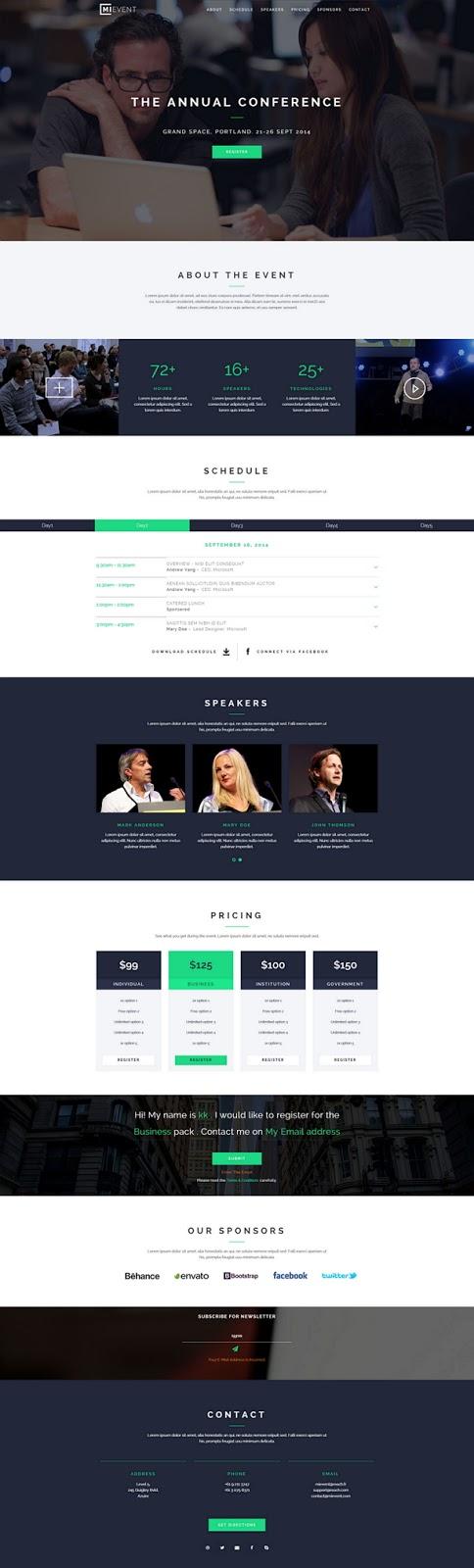 Responsive Event Website Theme