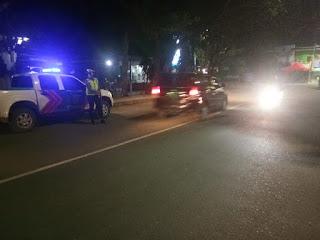 Pantau Arus Lalu Lintas Perkotaan, Sat Lantas Polres Enrekang Lakukan Patroli Biru