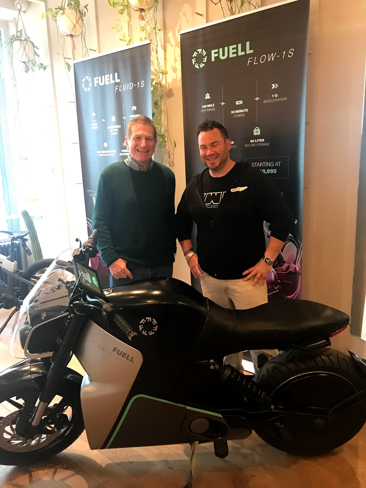 Erik Buell of FUELL and Tigh Loughhead, President of Gotham Ducati Desmo Owners Club in New York City