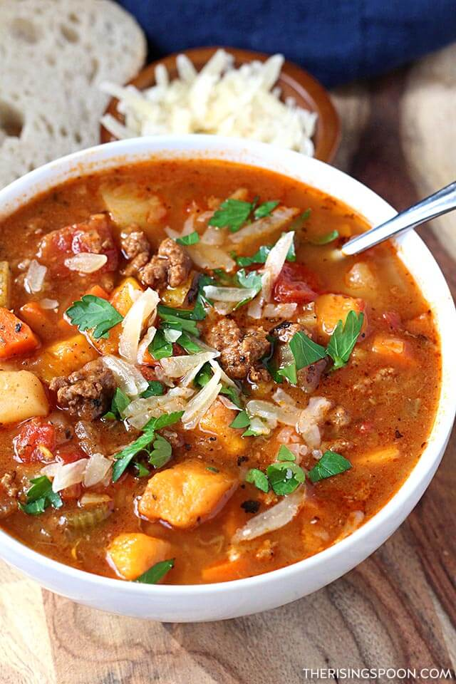 Healthy & Hearty Hamburger Soup Recipe with Potatoes