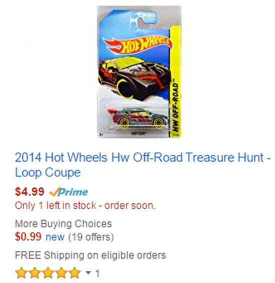 Hot Wheels Treasure Hunt Loop Coupe
