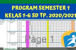 Program Semester 1 Tahun Pelajaran 2020/2021