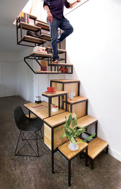 Desain Tangga Ruang Sempit Unik