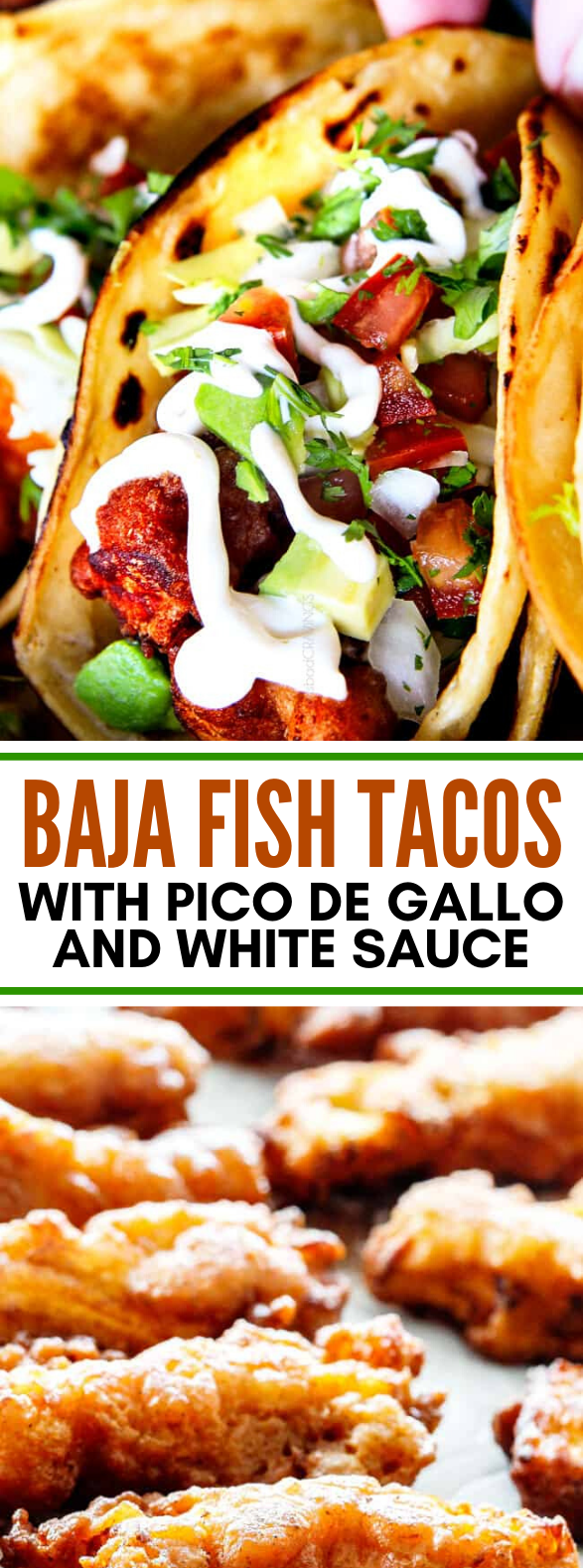 BAJA FISH TACOS WITH PICO DE GALLO AND WHITE SAUCE #lunch #dinner