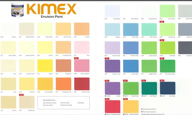 warna cat kimex