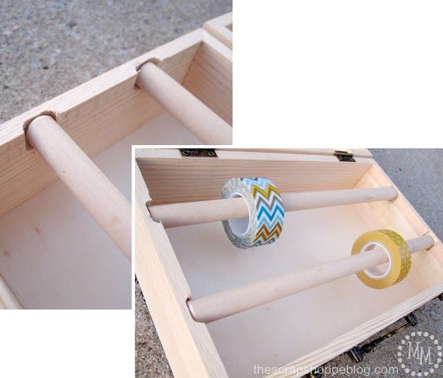 completed washi tape storage box
