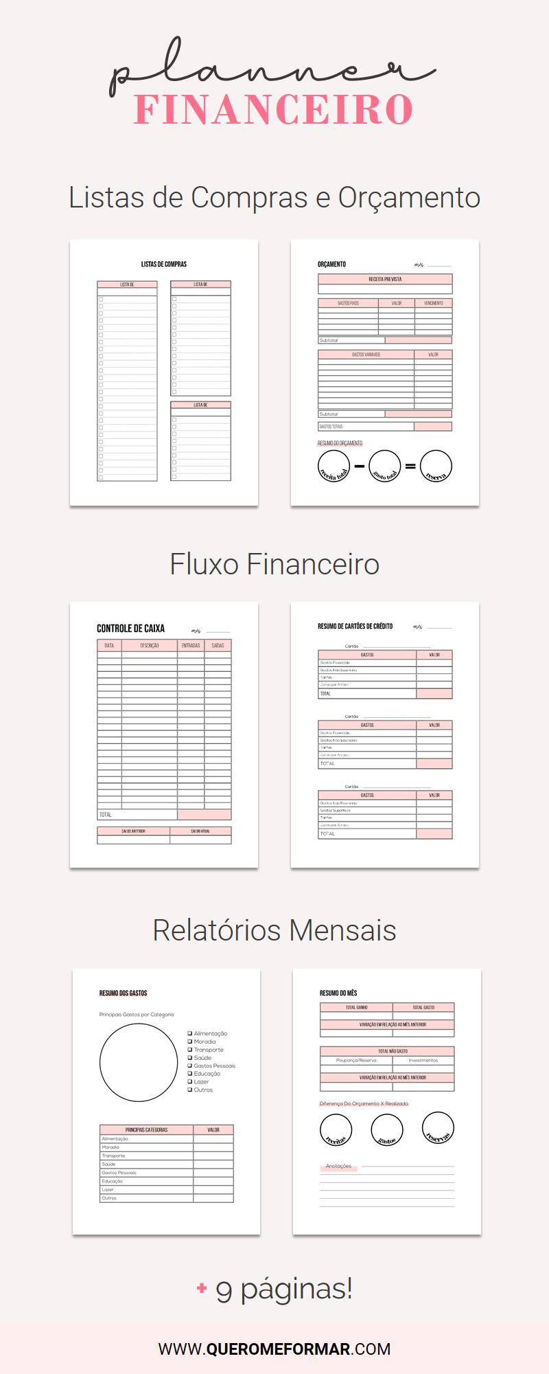 Planner Financeiro Completo para Download [2020]