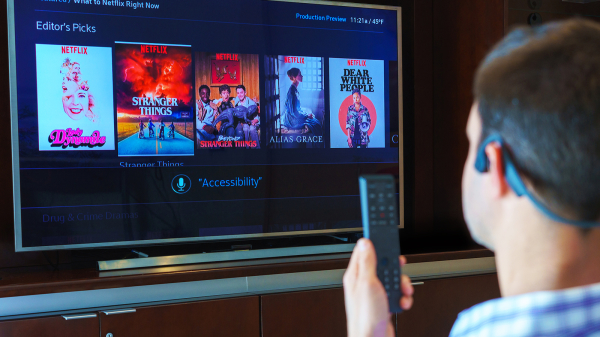 The latest access technology allows Comcast customers to change their TV channels with their own eyes