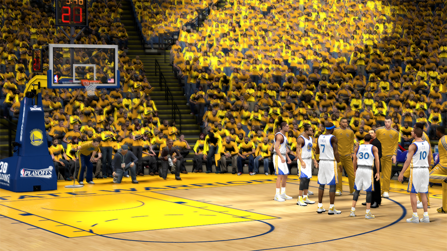 NBA 2K14 Golden St. Warriors Playoffs Crowd Patch