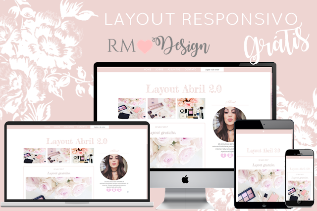 Populares Layout Responsivo Gratuito para Blogger - Renata Massa RC41