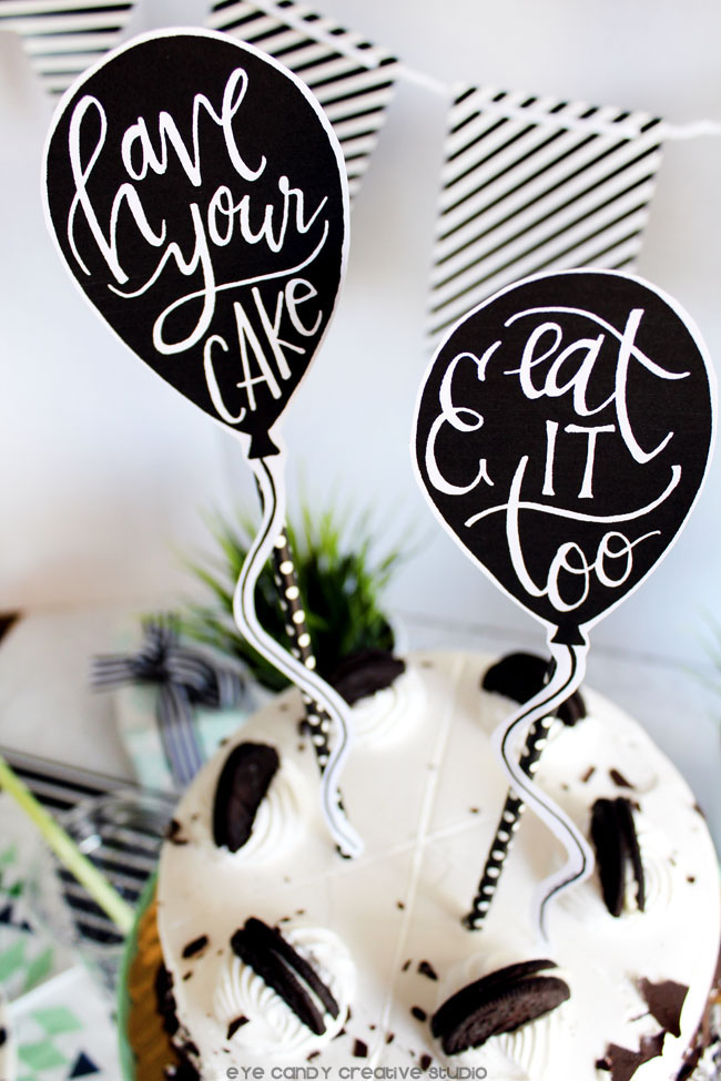 balloon shape cake topper, free download, have your cake & eat it too