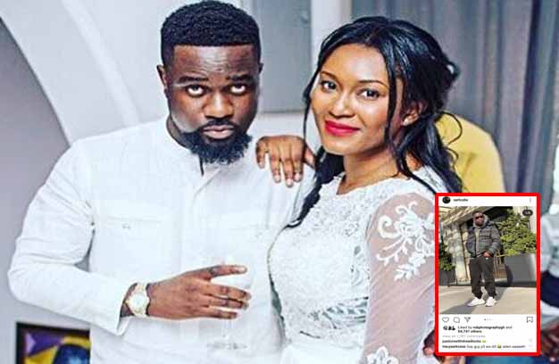 Sarkodie and his wife Tracy in all white dress