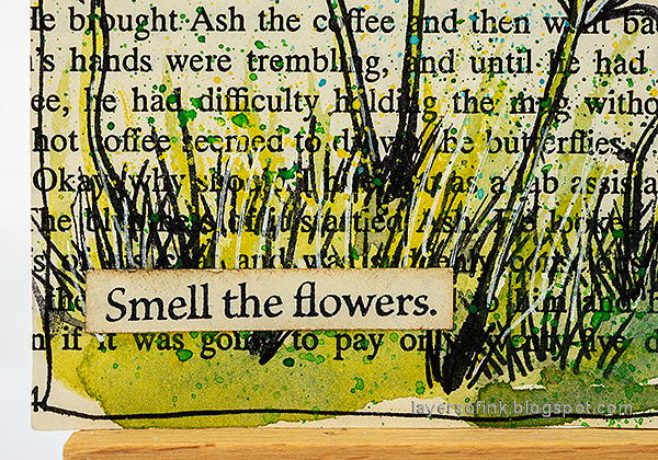 Layers of ink - Watercolor Flowers on Book Paper Tutorial by Anna-Karin Evaldsson. Buttercup flower.