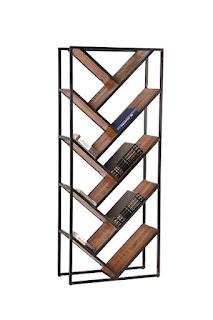 Estanteria forja madera estantes inclinados