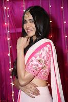 Adaa Sharma in White Pink Saree at Zee Telugu Apsara Awards 2017 03.JPG