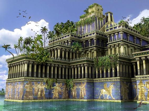 Los jardines colgantes de Babilonia. Las 7 maravillas del mundo antiguo