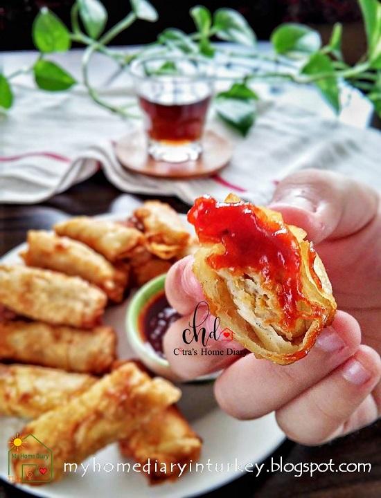 Indonesian style Fried Shrimp Chicken Dumpling / Lumpia Ayam Udang Goreng| Çitra's Home Diary . #dumpling #shrimpdumpling #chickendumpling #Indonesisch #Indonesianfoodrecipe #foodphotography #Asiancuisine #dumplingsauce #lumpiaudang #snackandappetizeridea