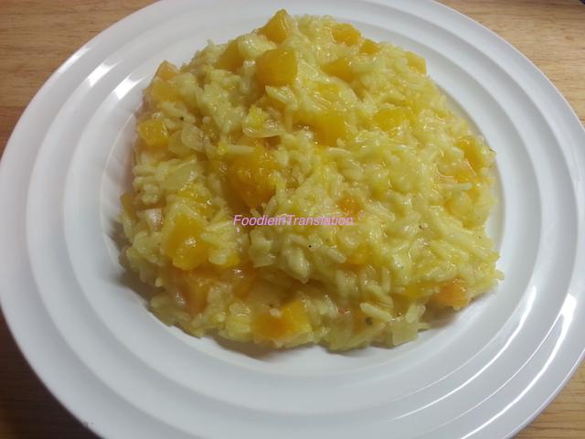 Il mio risotto alla zucca  - My pumpkin risotto
