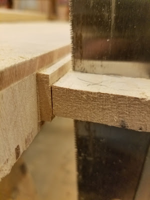 sawing off the outer edges creates square, clean surfaces