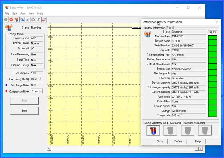BatteryMon :  Εργαλείο παρακολούθησης και διάγνωσης της μπαταρίας του laptop σας