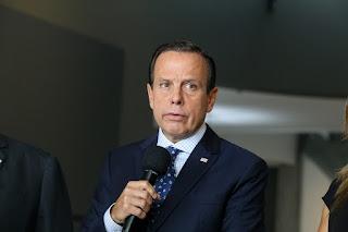 João Dória durante entrevista coletiva