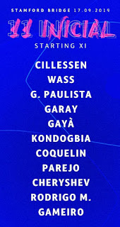 Valencia CF starting XI vs Chelsea FC