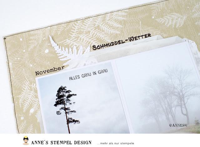 Wort und Textstempel von Annes Stempel-Design auf einem Scrapbookinglayout verarbeitet.