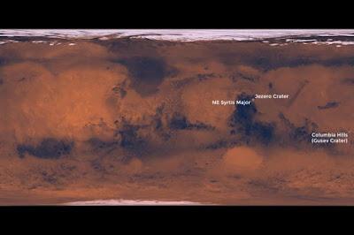 La NASA ha deciso su tre potenziali siti di atterraggio per l'imminente missione Mars 2020: Northeast Syrtis, Jezero crater e Columbia Hills