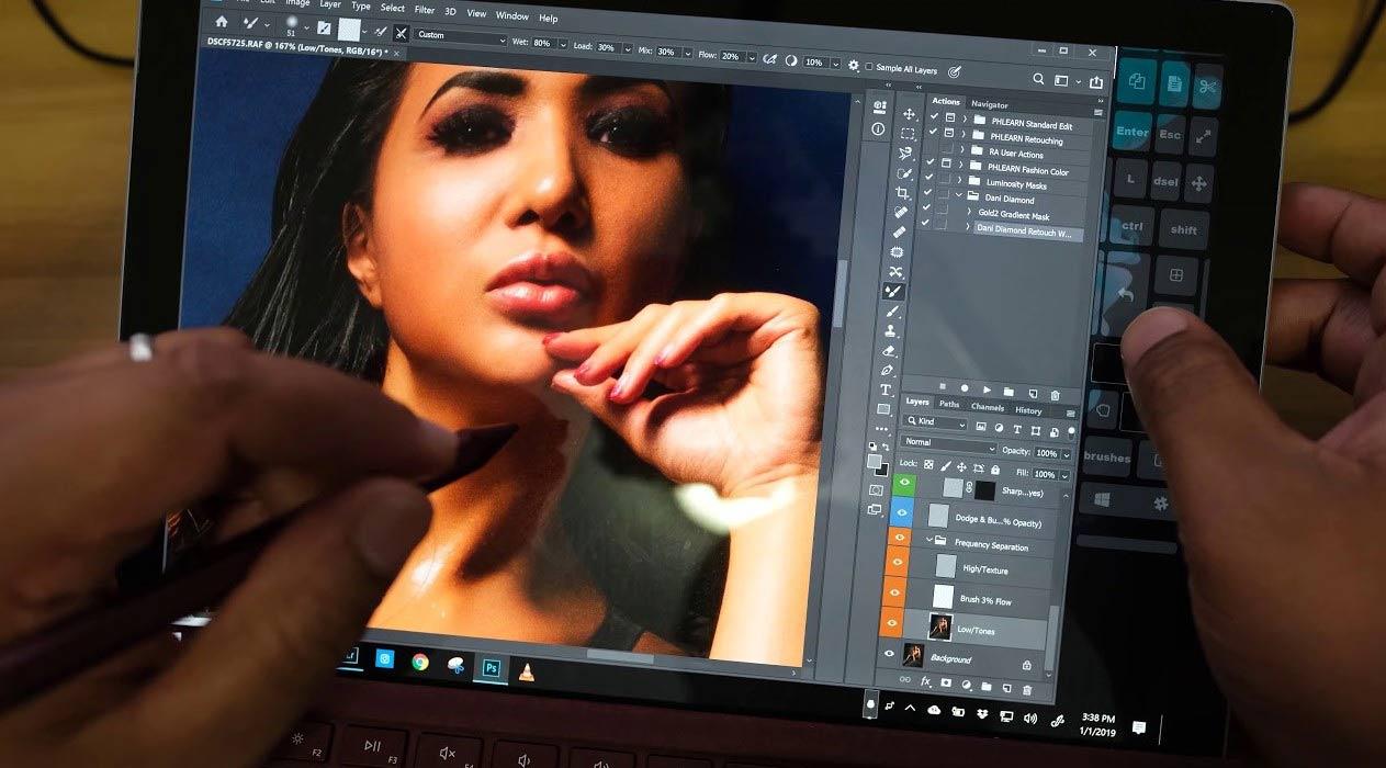 tập luyện kĩ năng photoshop thành thạo
