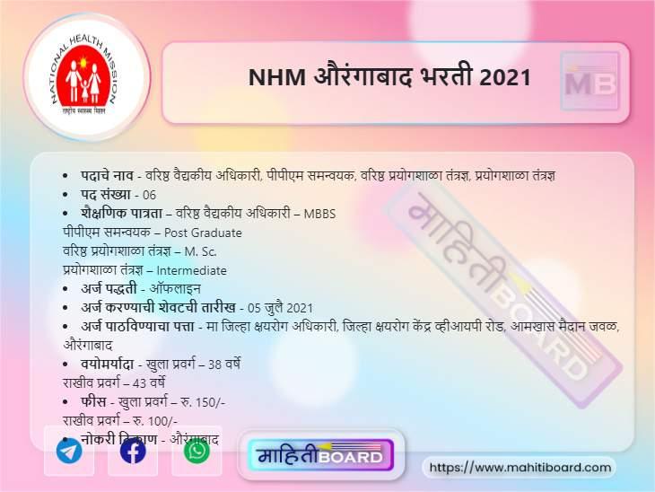 NHM Aurangabad Recruitment 2021