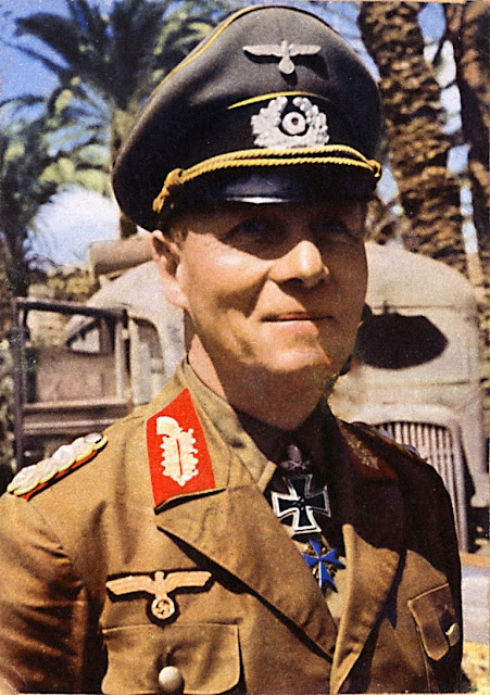 Erwin Rommel Color photo World war II worldwartwo.filminspector.com
