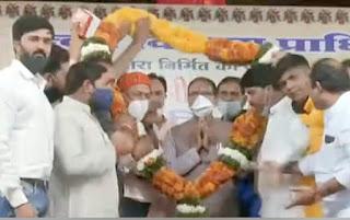 सेन समाज के कार्यक्रम में पधारे मुख्यमंत्री शिवराज सिंह चौहान, सेंन चौराहे का उद्घाटन किया