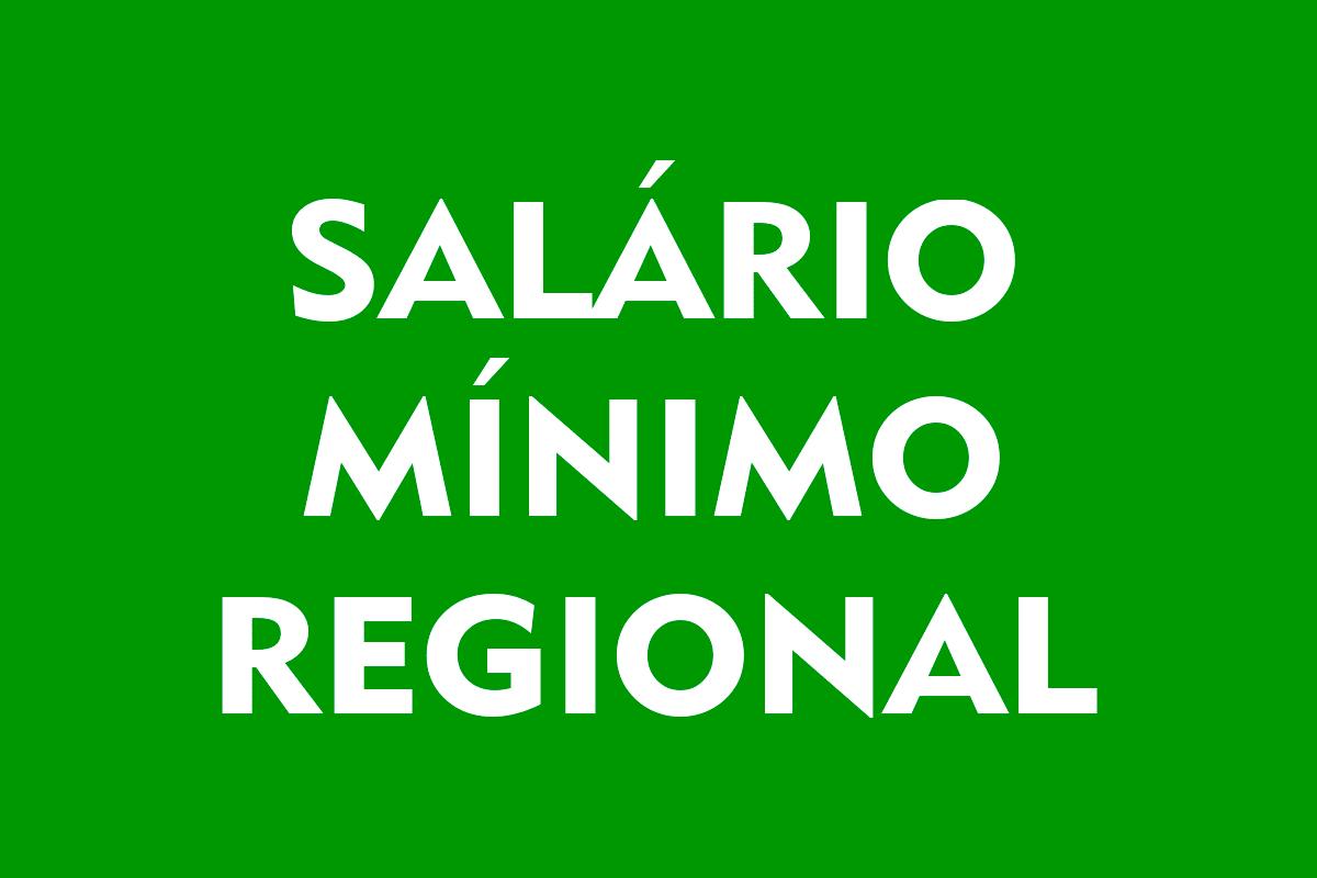 Salário mínimo regional 2021