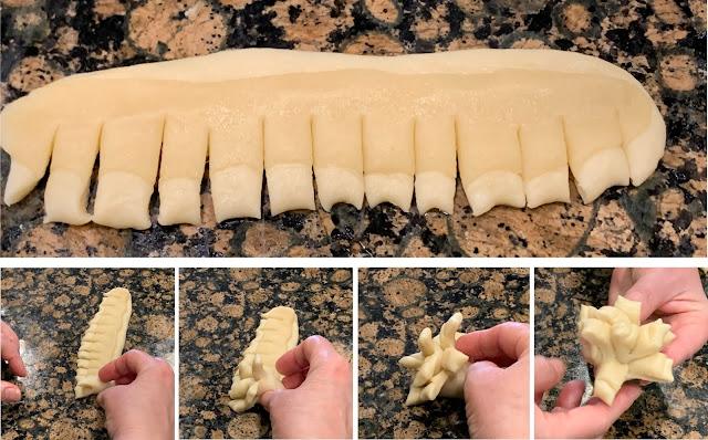 forming Gallinitas, forming Guatemalan bread, pan dulce